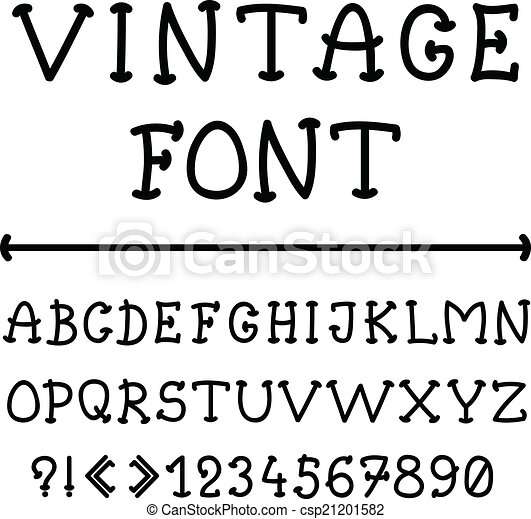 alfabeto inglés en estilo antiguo - csp21201582