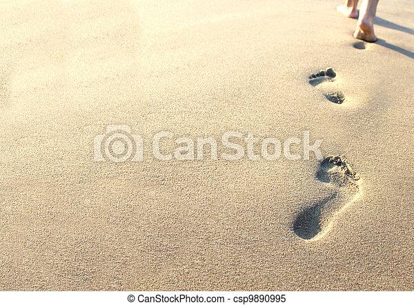 ingombri, sabbia, umano - csp9890995