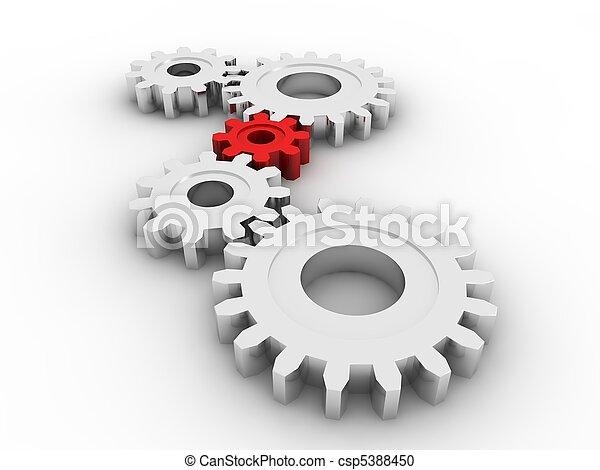 ingranaggi, concetto - csp5388450
