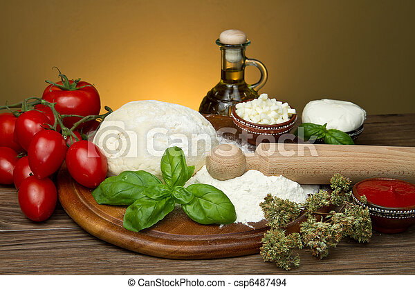 ingredientes de pizza - csp6487494