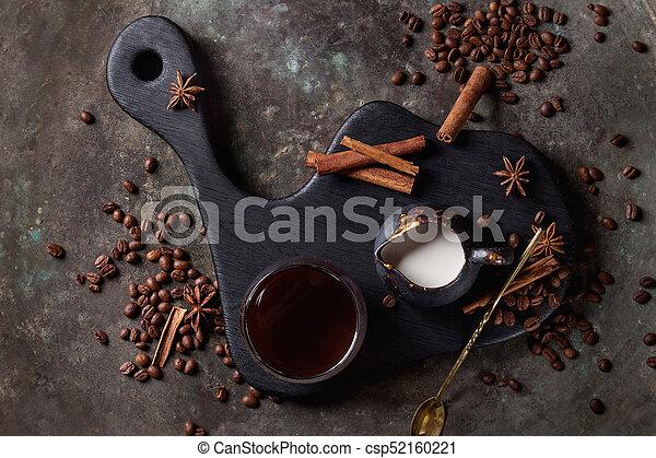 Ingredients for latte - csp52160221