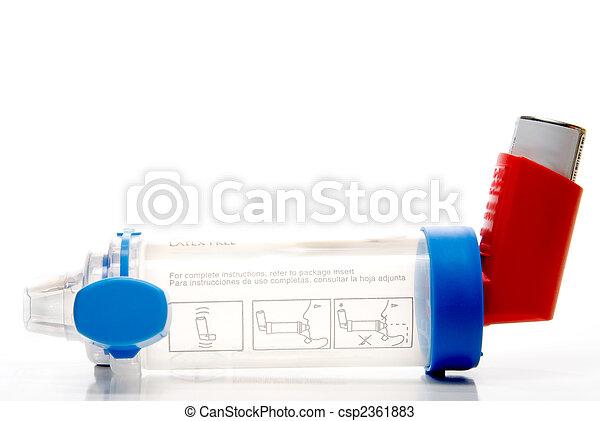 inhalador, asma, tubo, extensión - csp2361883