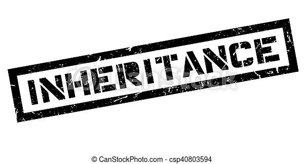 Inheritance rubber stamp - csp40803594