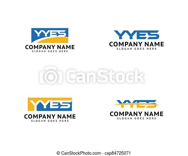 inicial, logotipo, diseño determinado, yyes, plantilla, carta - csp84725071
