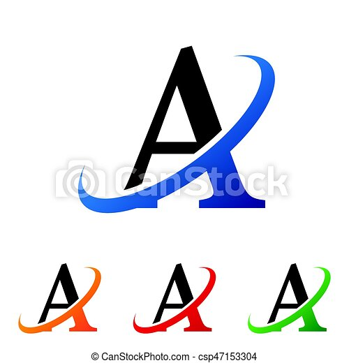 simple initial letter a swoosh logo vector vector clipart search rh canstockphoto com