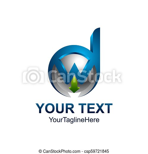 Initial letter dw or wd logo template colored blue silver design for initial letter dw or wd logo template colored blue silver design for business and company identity fbccfo Images