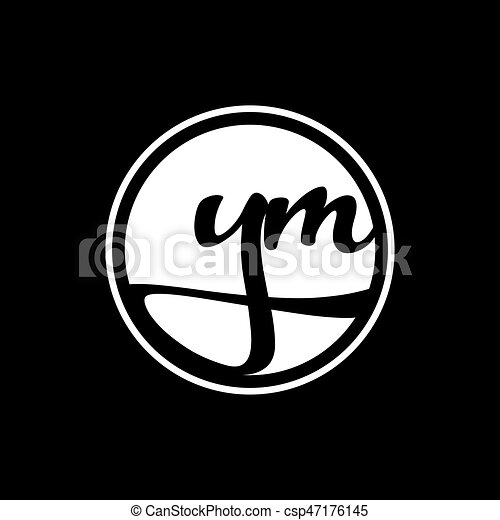 initial letter logo circle with ring am to zm white initial letter Elegant Logo AM initial letter logo circle with ring am to zm white csp47176145