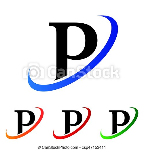 simple initial letter p swoosh logo vector vector clip art search rh canstockphoto com  fancy letter p clipart