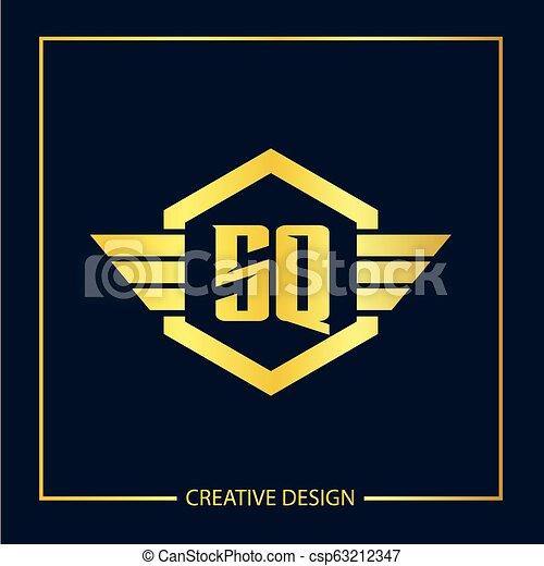 Initial letter SQ Logo Template Vector Design - csp63212347