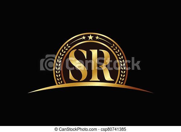 Initial Monogram Letter Sr Logo Design Vector Template Graphic Alphabet Symbol For Corporate Business Identity