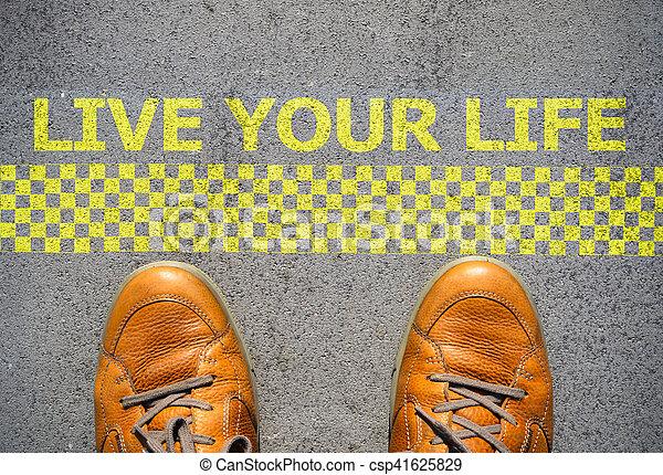 inizio, vita, concetto, vivere, tuo - csp41625829