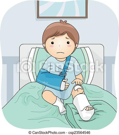 Injured Boy - csp23564546