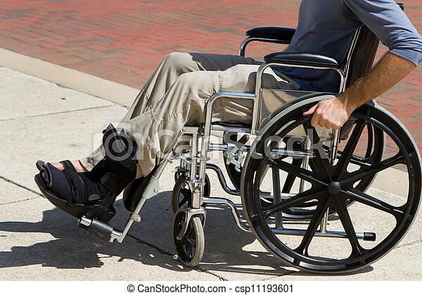 Injured Man Wheelchair - csp11193601