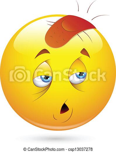 Injured Smiley Face - csp13037278