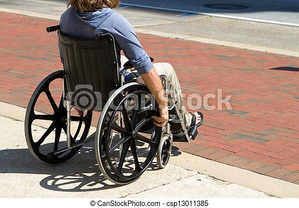 Injured Wheelchair Man - csp13011385