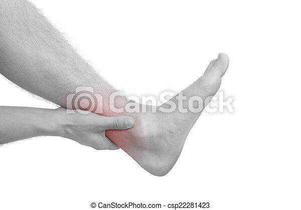 Injuries., muskel. Bild, area., schmerz, strain., hand ...