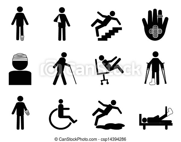Injury icons set 	 - csp14394286