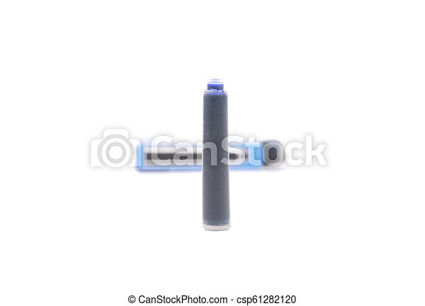 Ink cartridges for pens on white - csp61282120