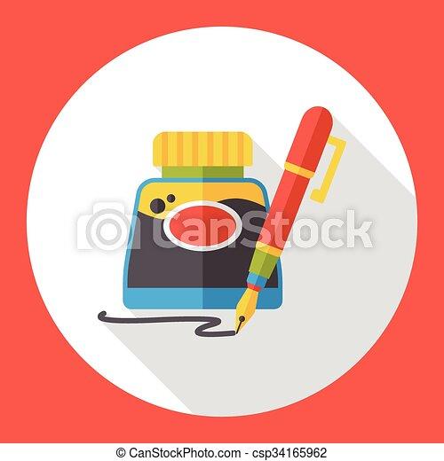 ink flat icon - csp34165962
