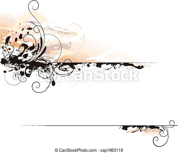 Ink Letter Decoration Background - csp1963119