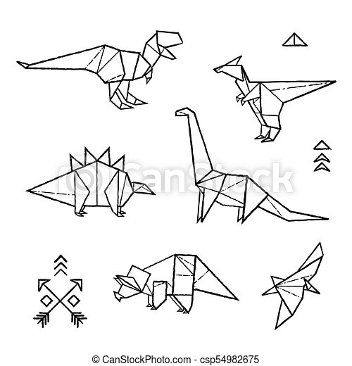 Origami Dinosaurs P2 by Sean Dexter on Dribbble | 470x450