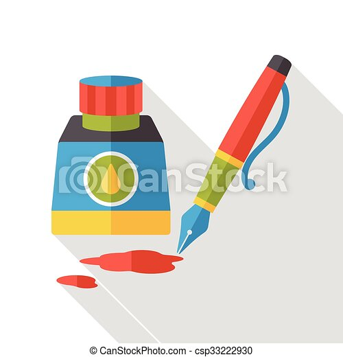 ink pen flat icon - csp33222930