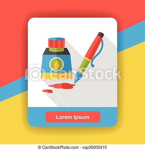 ink pen flat icon - csp35005410