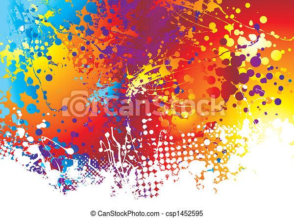 ink splat rainbow bottom - csp1452595