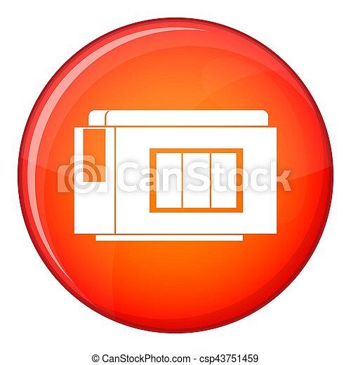 Inkjet printer cartridge icon, flat style - csp43751459