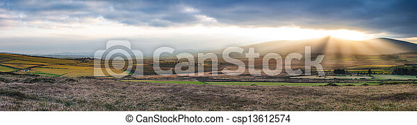 Inland view from Great Sugarloaf - csp13612574