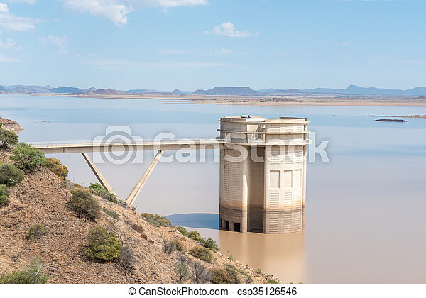 Inlet of the Orange to Fish River Tunnel - csp35126546