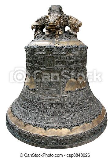 Aislado enorme campana de la catedral de la iglesia principal - csp8848026