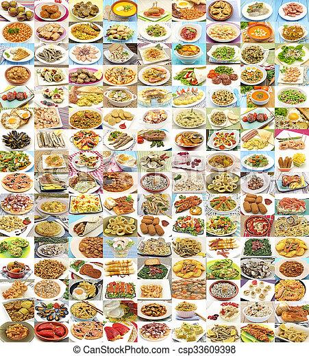 Una gran variedad de platos diferentes - csp33609398