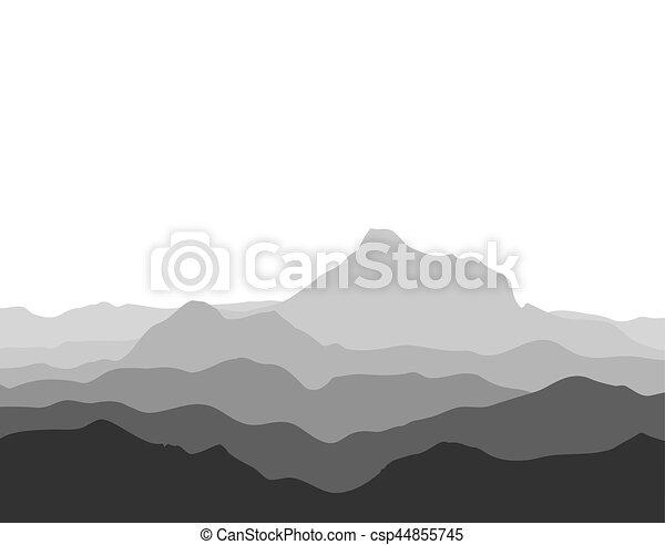 Gran cordillera montañosa - csp44855745