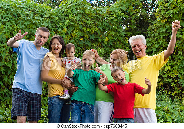 Un gran retrato familiar - csp7608445