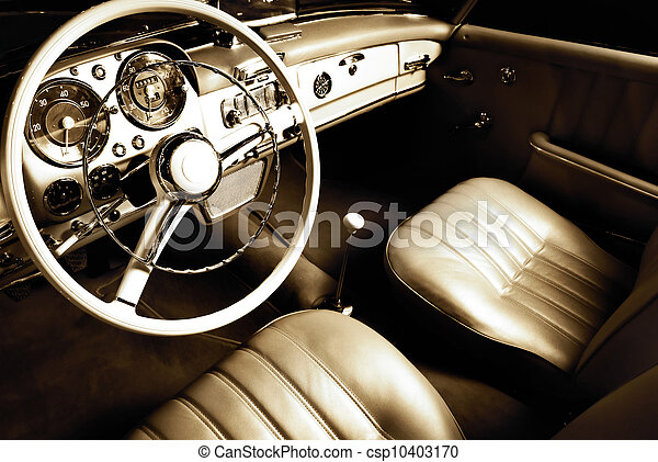 inneneinrichtung, auto, luxus - csp10403170