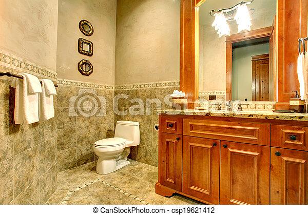 inneneinrichtung badezimmer gr n gold gold trim wand gro gr n spiegel fliese. Black Bedroom Furniture Sets. Home Design Ideas