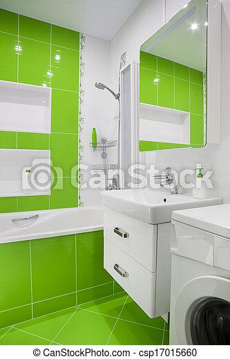 Inneneinrichtung, badezimmer, grün Stockbild - Suche Fotos und Foto ...
