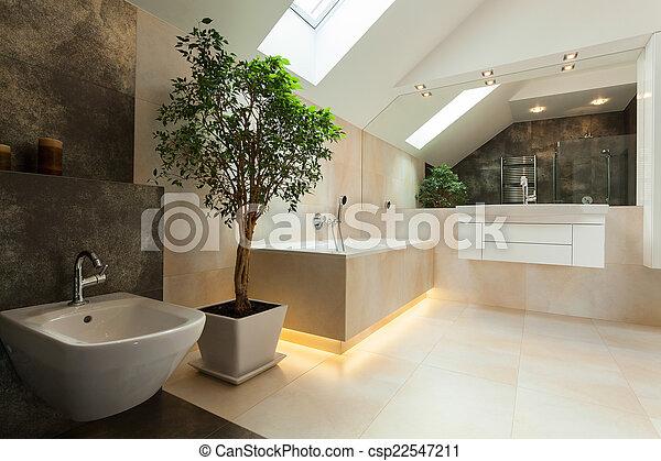 Inneneinrichtung, badezimmer, modern. Inneneinrichtung, haus ...