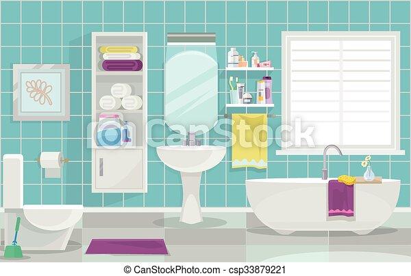 Ordinaire Inneneinrichtung, Badezimmer, Modern   Csp33879221