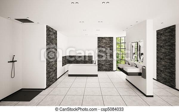 Inneneinrichtung, badezimmer, modern, render, 3d. Badezimmer ...