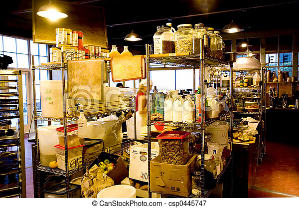 inneneinrichtung, bakery-coffee, laden - csp0445747