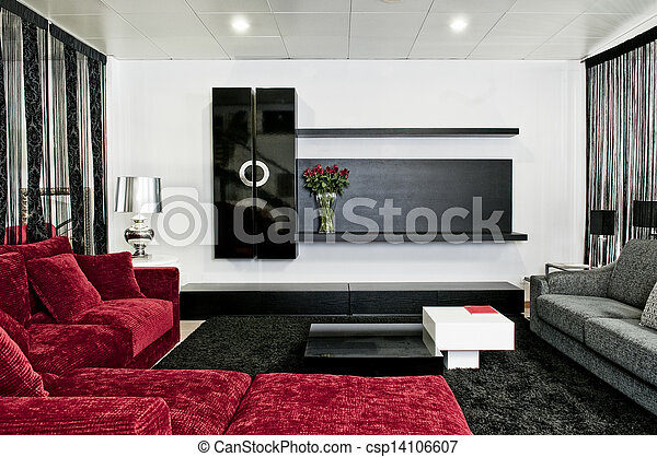 Innenarchitektur im modernen Haus - csp14106607