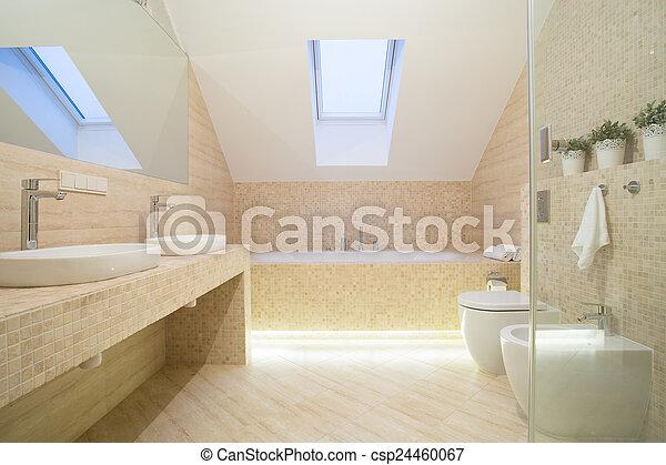 inneneinrichtung, farbe, badezimmer, beige