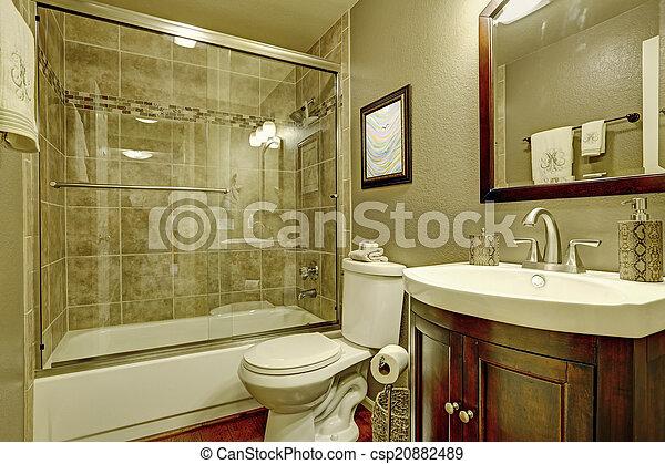 Inneneinrichtung, glas, badezimmer, dusche. Badezimmer,... Bilder ...
