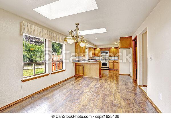Inneneinrichtung haus leerer kueche hartholz haus floor hell leerer kueche - Haus inneneinrichtung ...