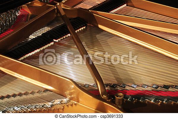 inneneinrichtung, klavier, großartig - csp3691333