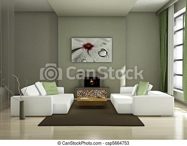 Modernes Inneres - csp5664753