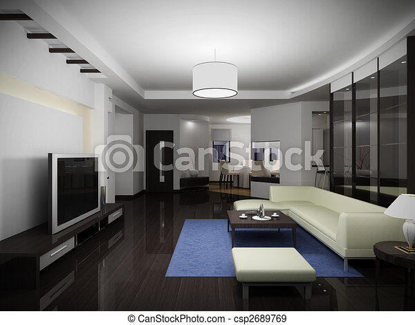 inneneinrichtung, modern - csp2689769