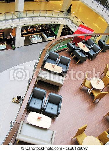 inneneinrichtung, poppig, café - csp6126097